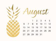 Tumblr Inline August 2018 Calendar