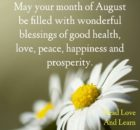 Welcome August Month Photos
