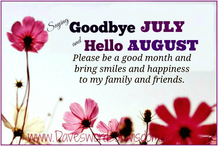 Welcome August Quotes Messages