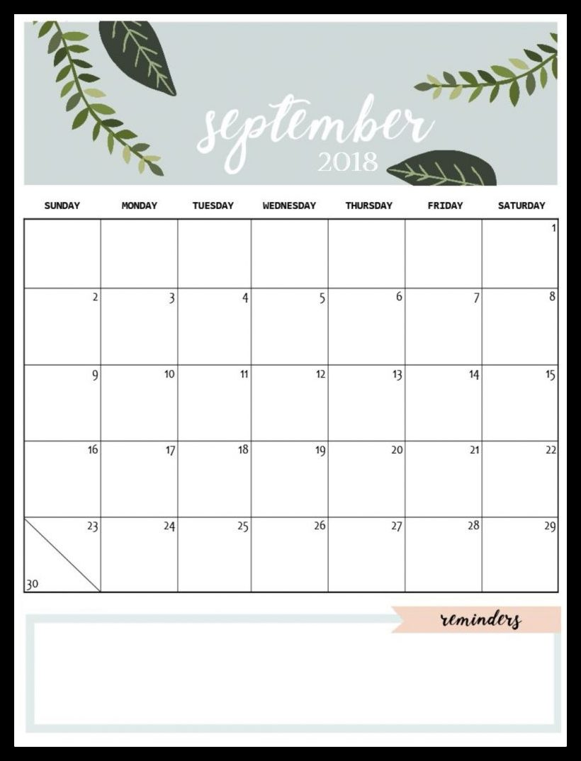 2018 September Calendar Telugu
