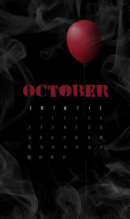 Amazing October 2018 iPhone Calendar