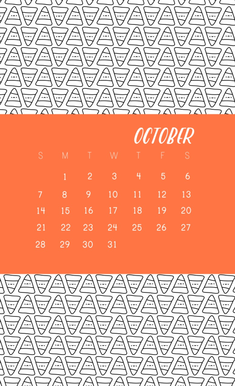 Beautiful October 2018 iPhone Calendar Wallpapers