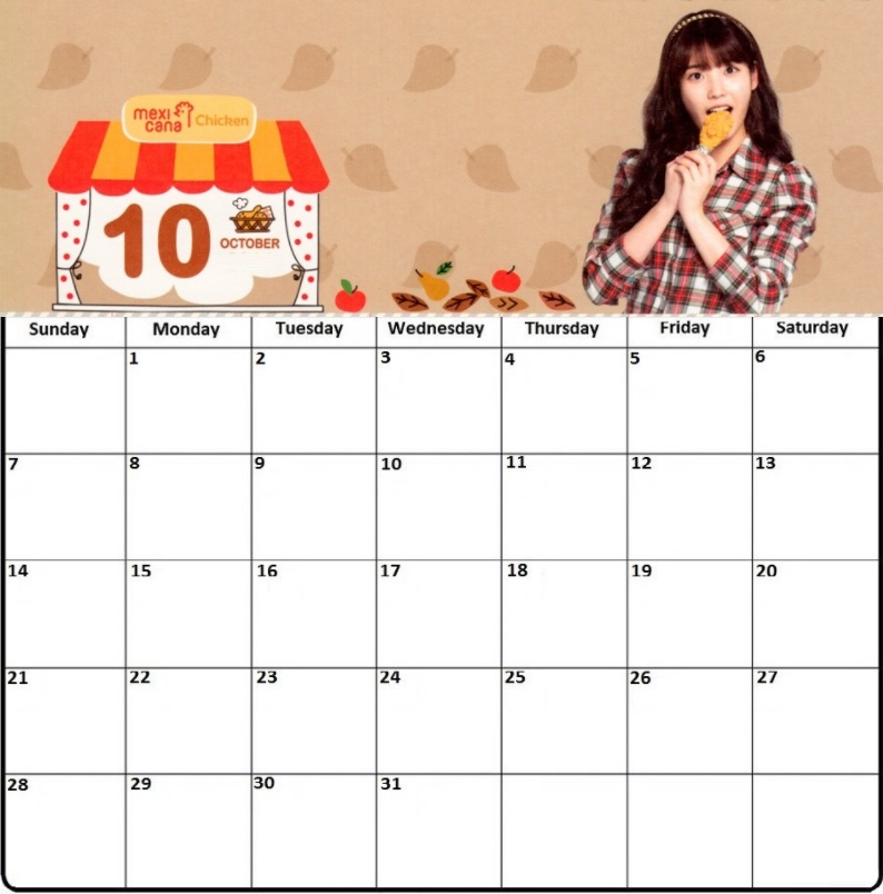 Best Desk Calendar October 2018