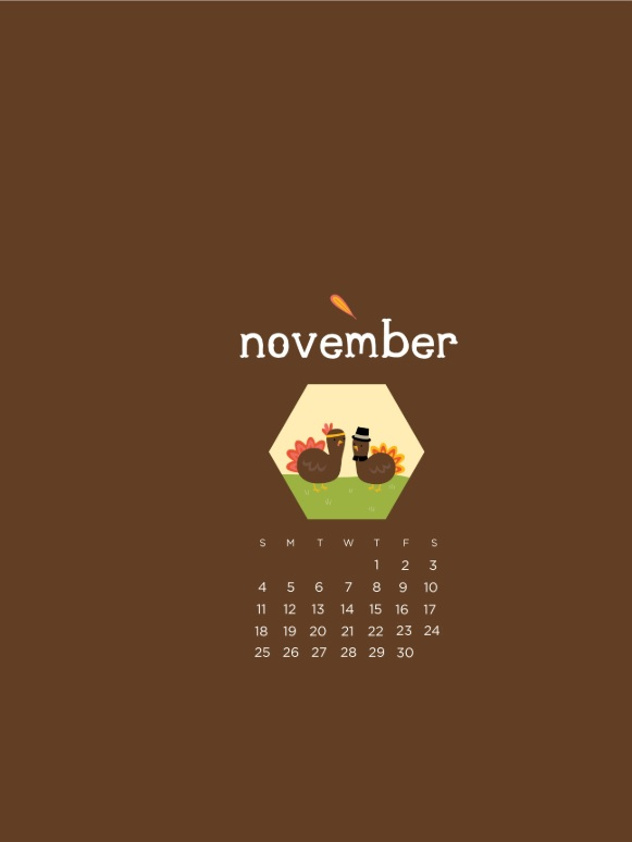 Best November 2018 iPhone Calendar