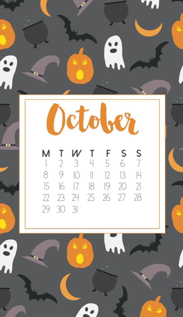 Best October 2018 iPhone Calendar