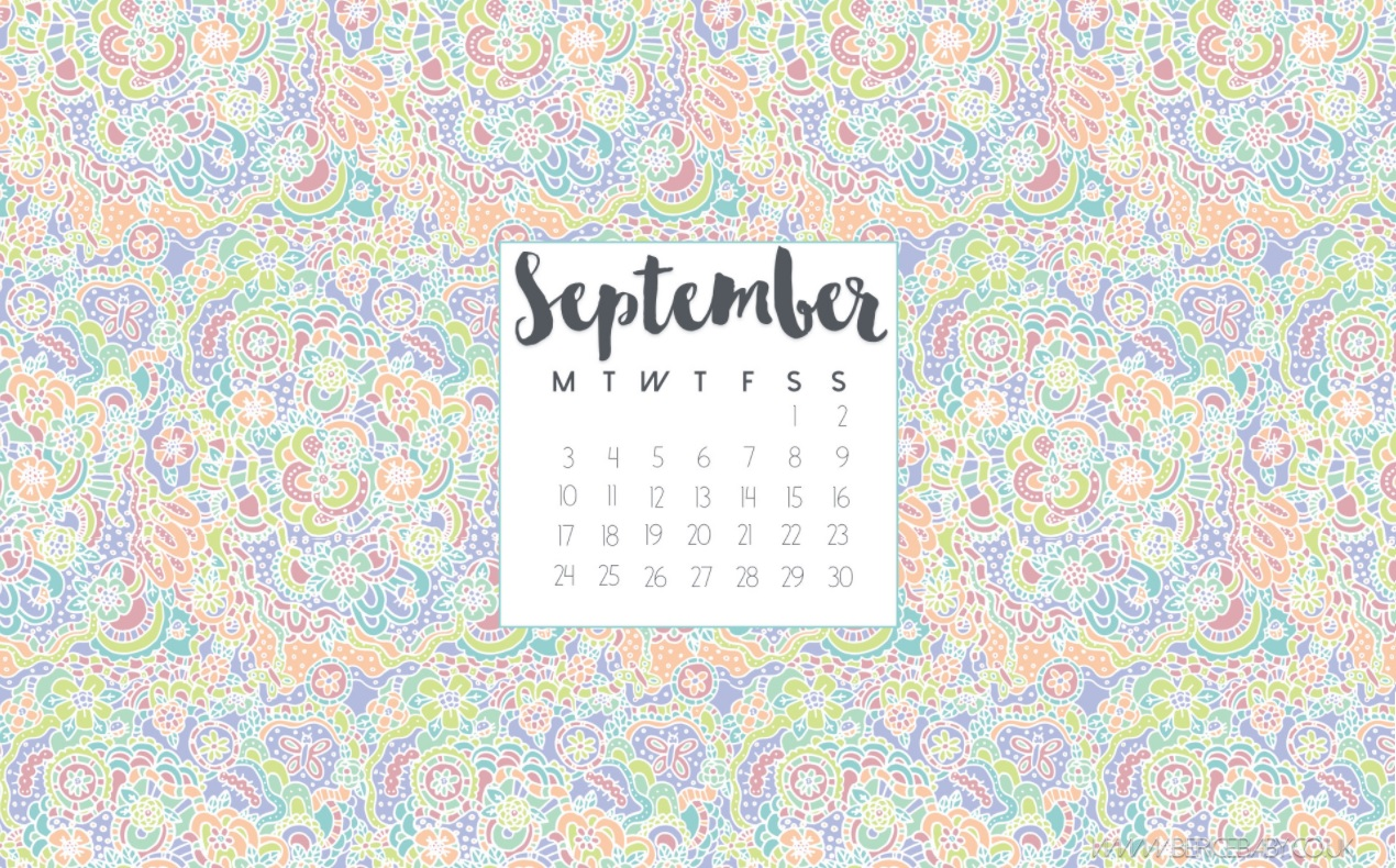 Best September 2018 Desktop Calendar