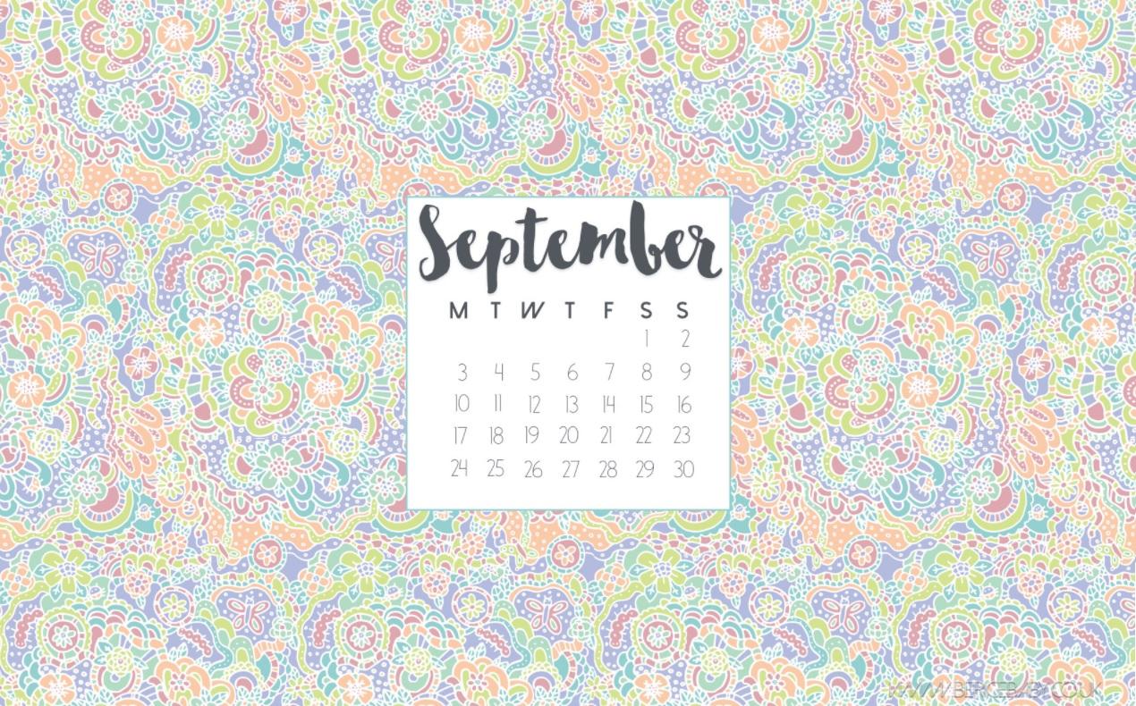 Best September 2018 Desktop Calendar