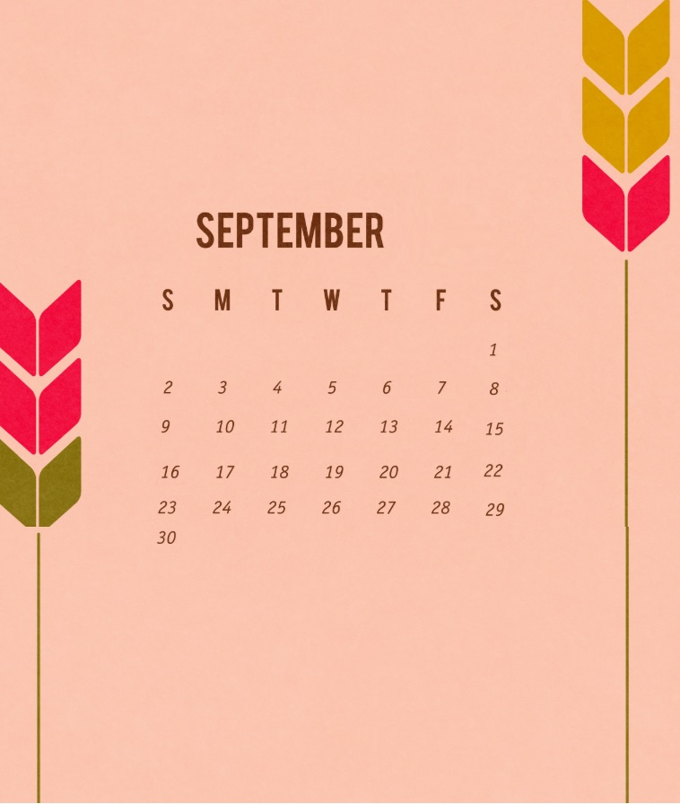Best September 2018 iPhone Calendar Wallpapers