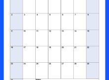 Blank September 2018 Calendar Editable