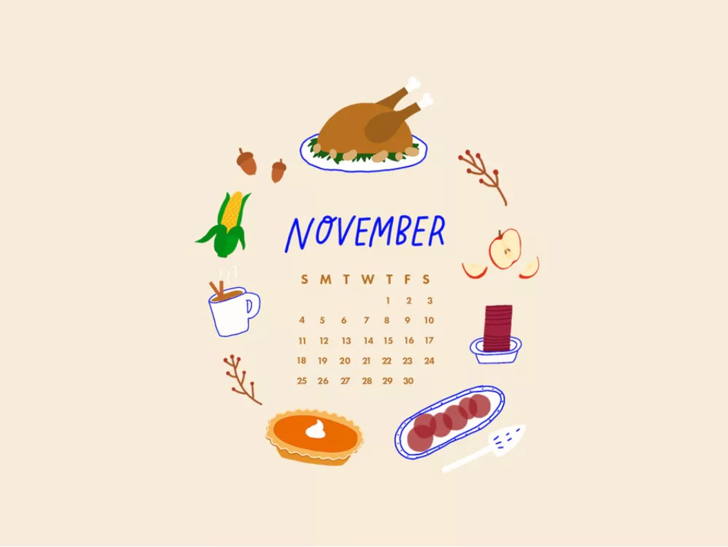 Calendar Wallpapers November 2018