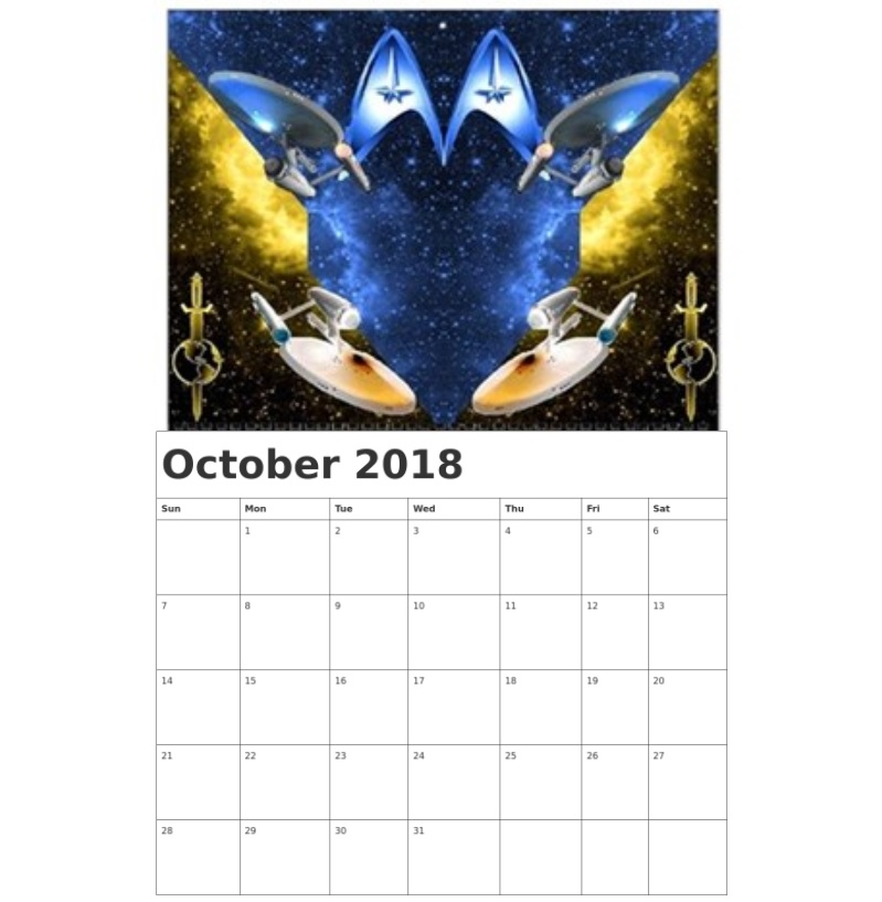 Custom Wall Calendar October 2018