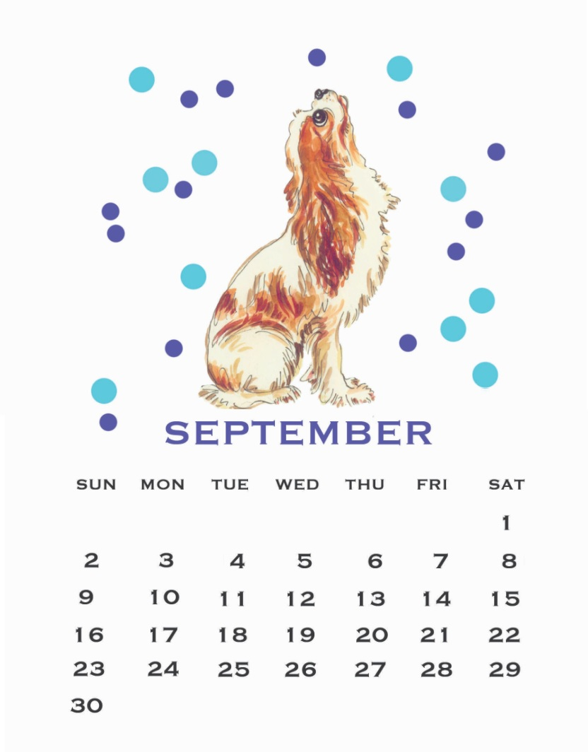 Cute September 2018 Calendar For Desk