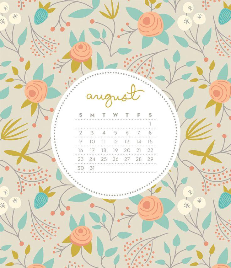 Free August 2018 Wallpaper Calendar