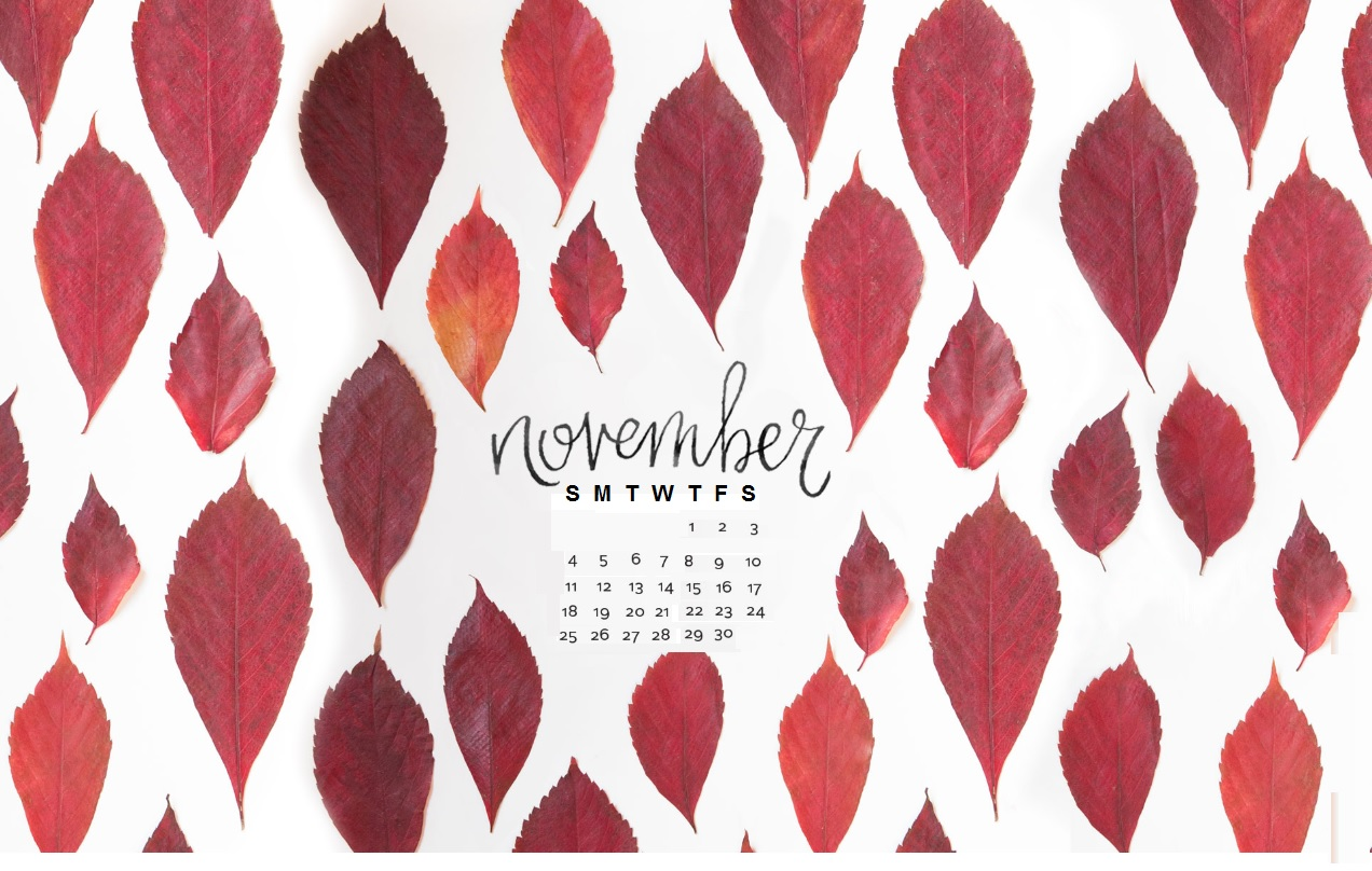 Free November 2018 Calendar Wallpapers