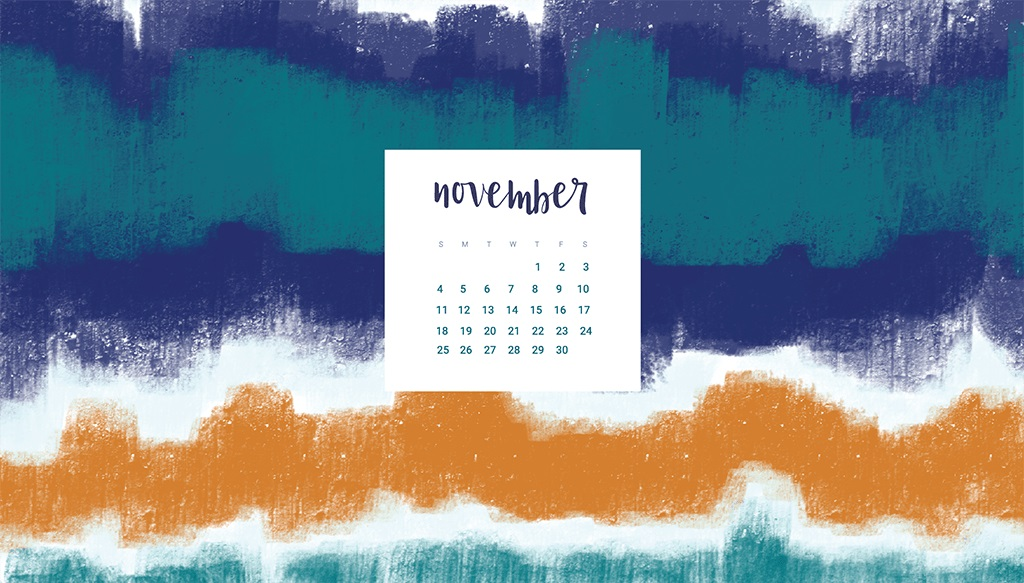 Free November 2018 Desktop Calendar