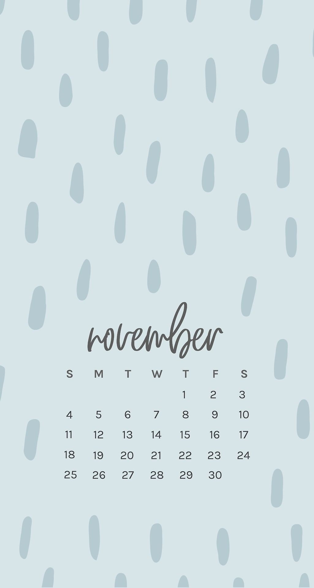 Free November 2018 iPhone Calendar Wallpapers