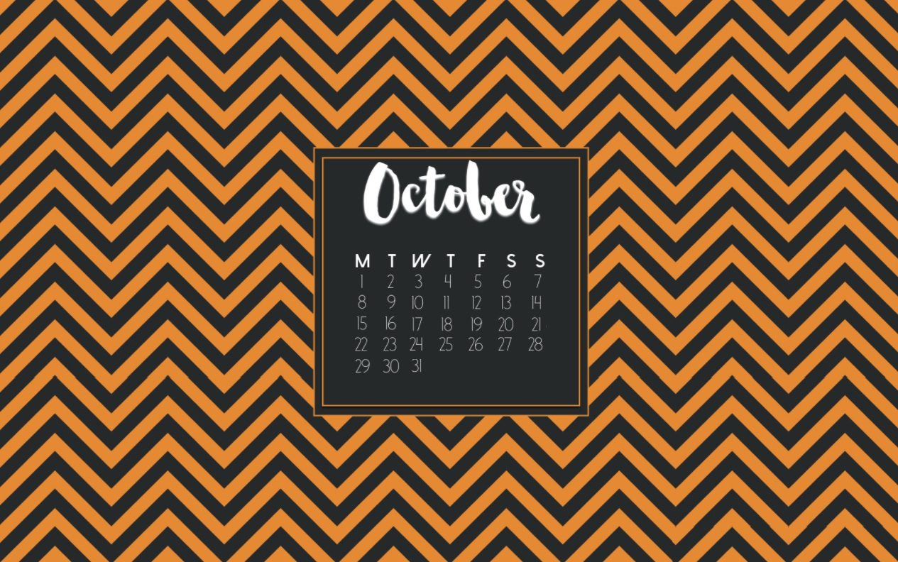 Free October 2018 Calendar Wallpapers
