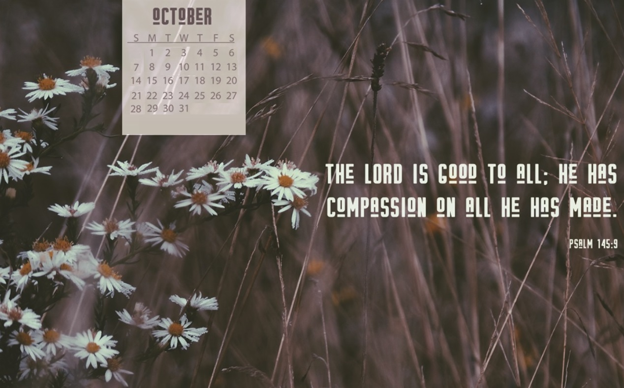Free October 2018 Desktop Calendar