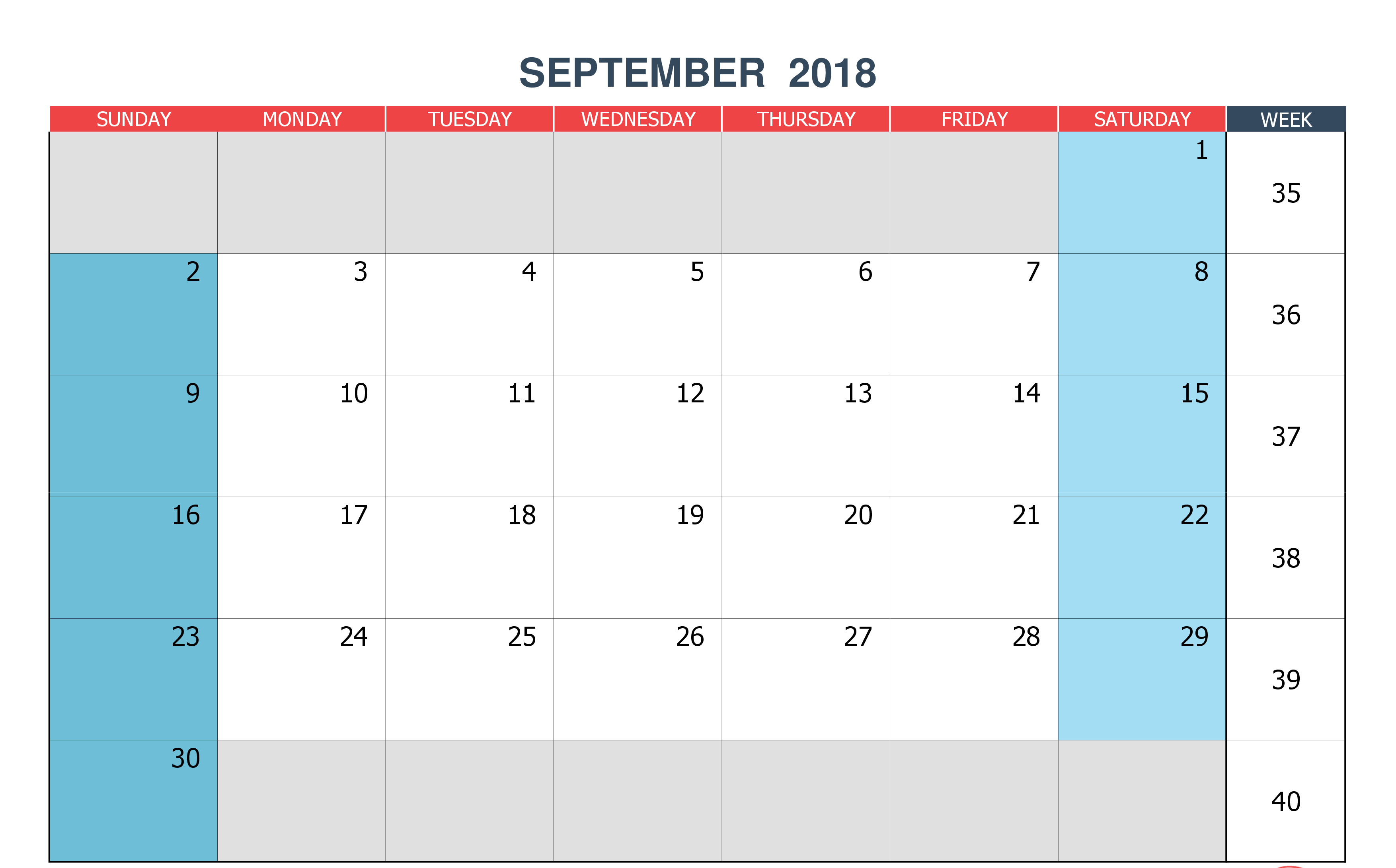 Free September 2018 Calendar Telugu