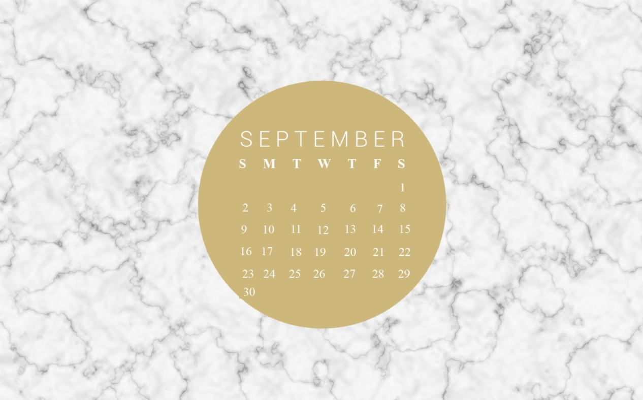 Free September 2018 Calendar Wallpapers