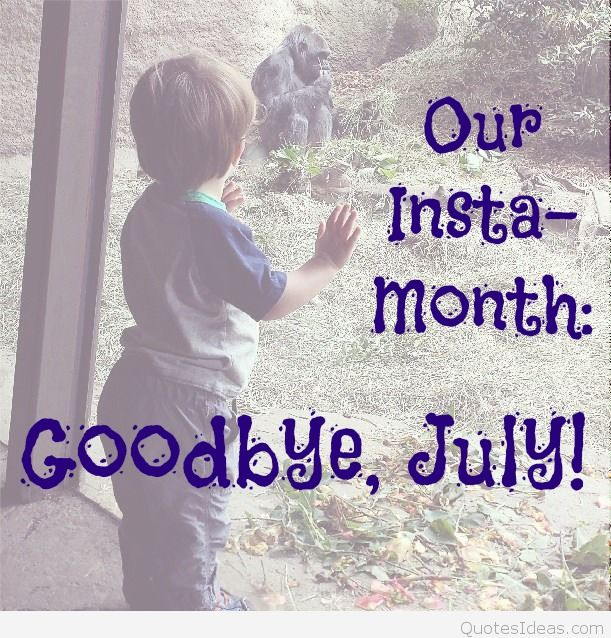 Goodbye July Hello August Month Quotes