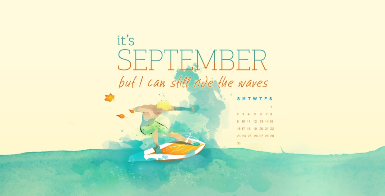 Motivational September 2018 Calendar Wallpapers