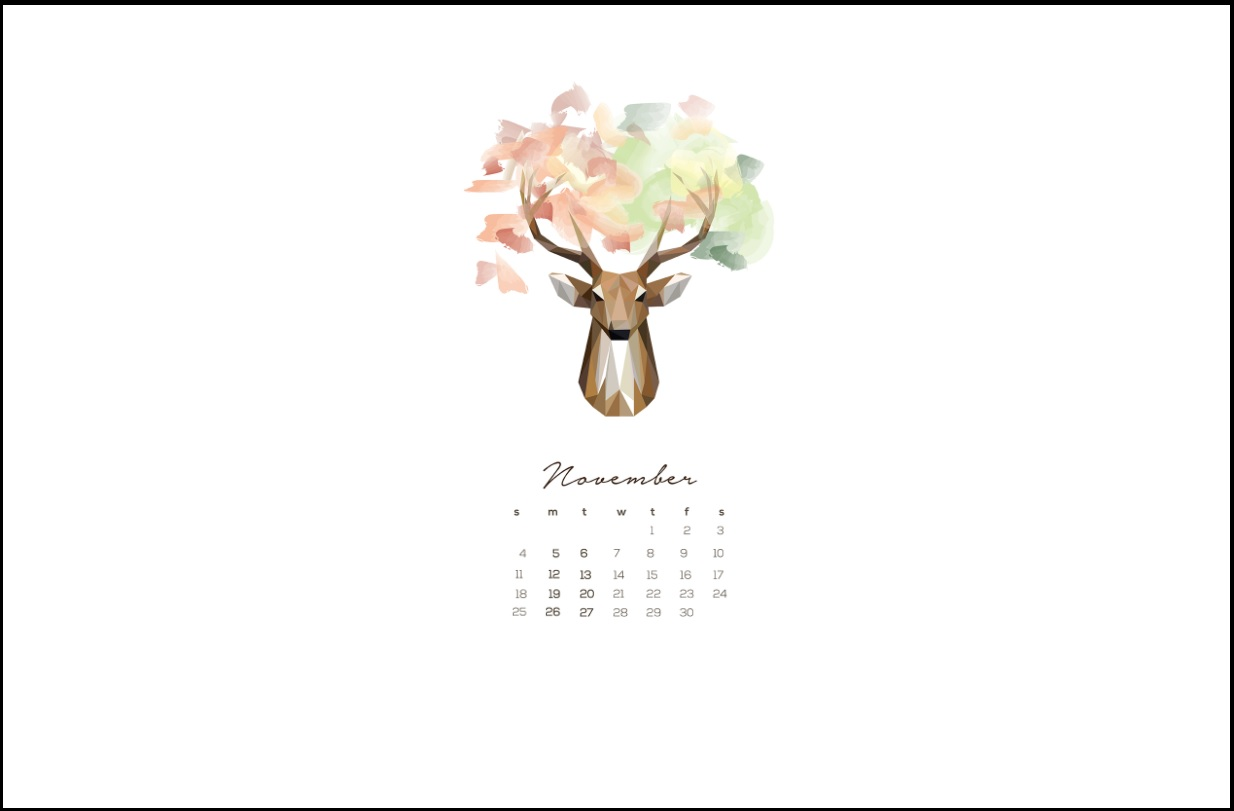 November 2018 Calendar Wallpaper Designs