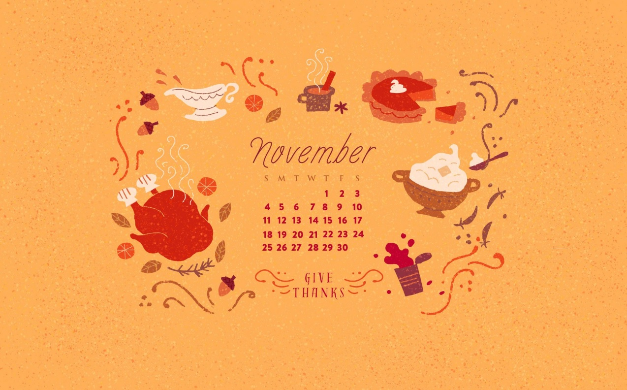 November 2018 Calendar Wallpapers