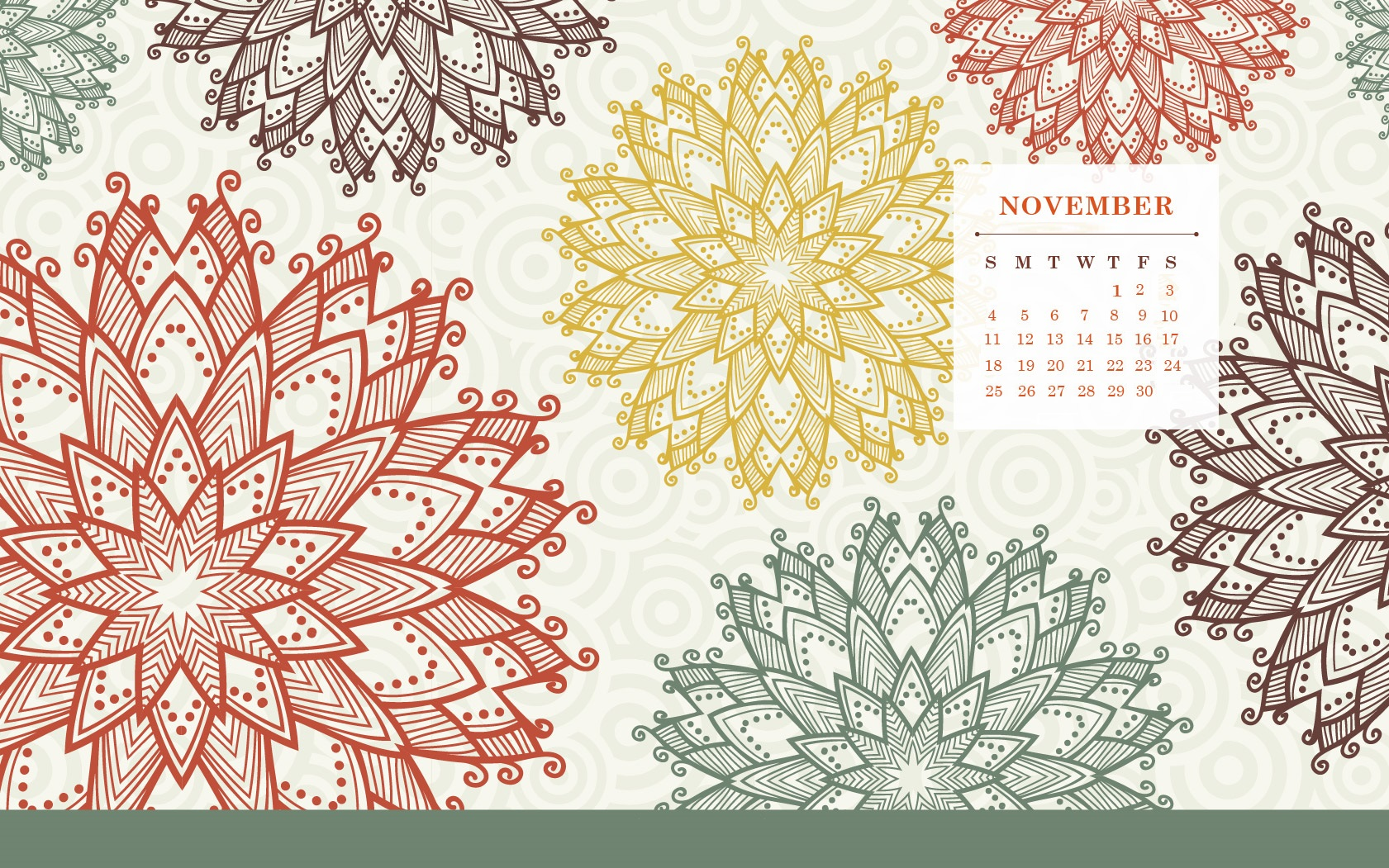 November 2018 Desktop HD Calendar