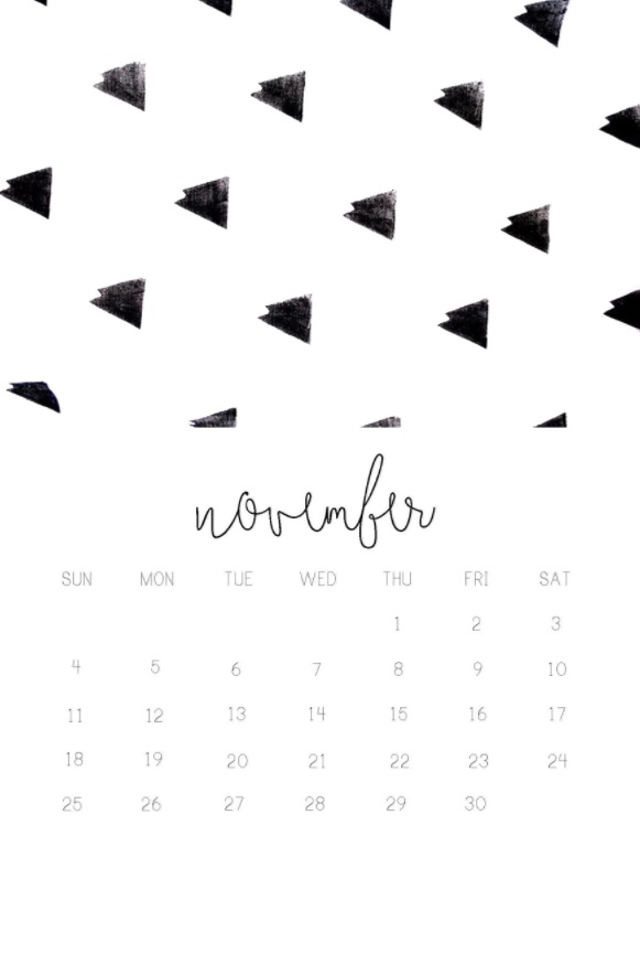 November 2018 iPhone Calendar Designs