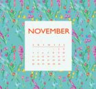 November 2018 iPhone Calendar Template