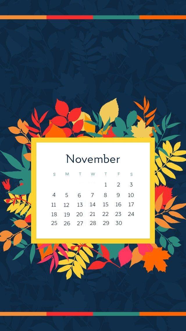November 2018 iPhone Calendar