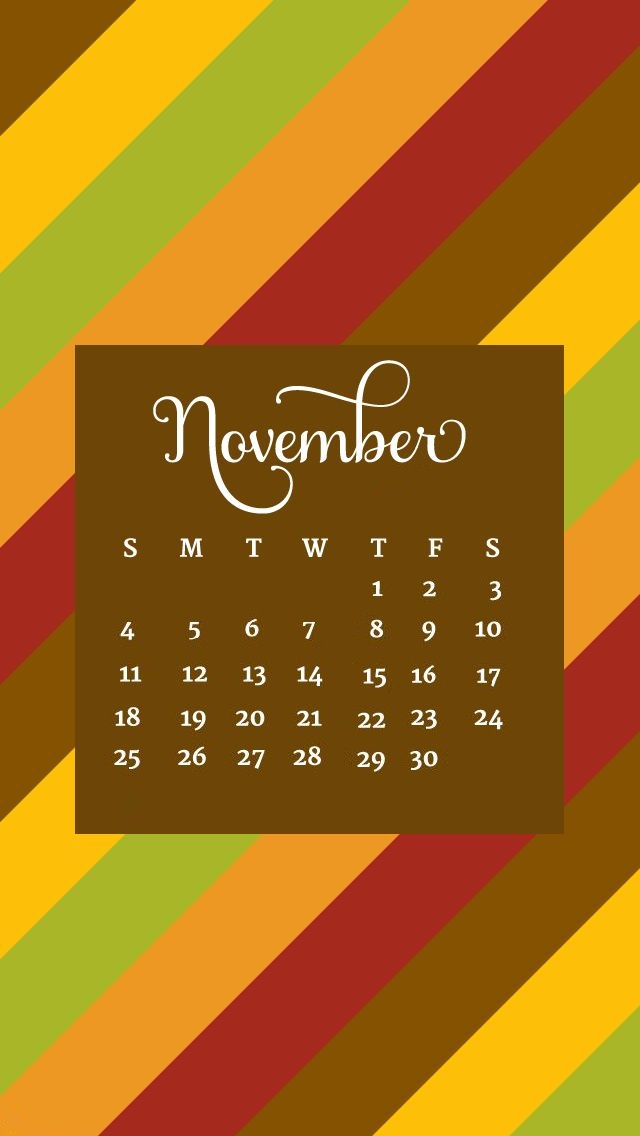 November 2018 iPhone HD Calendar