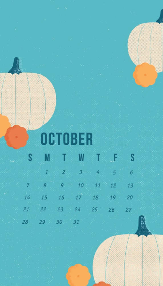 October 2018 Calendar For iPhone