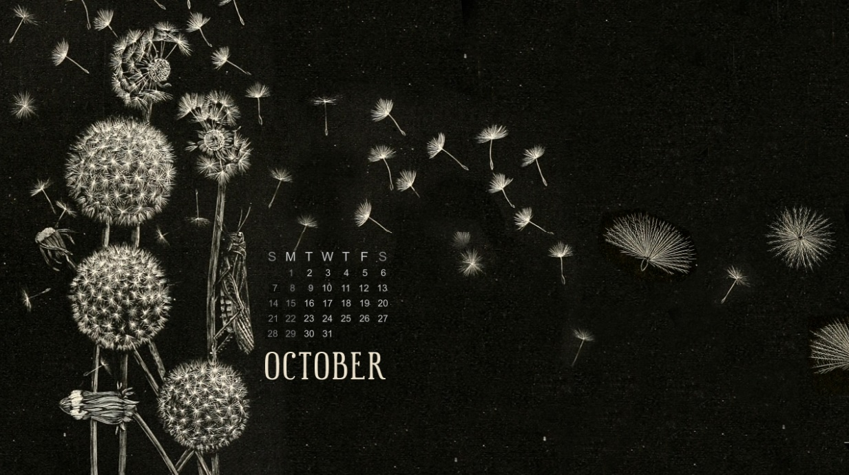 October 2018 Calendar HD Wallpapers