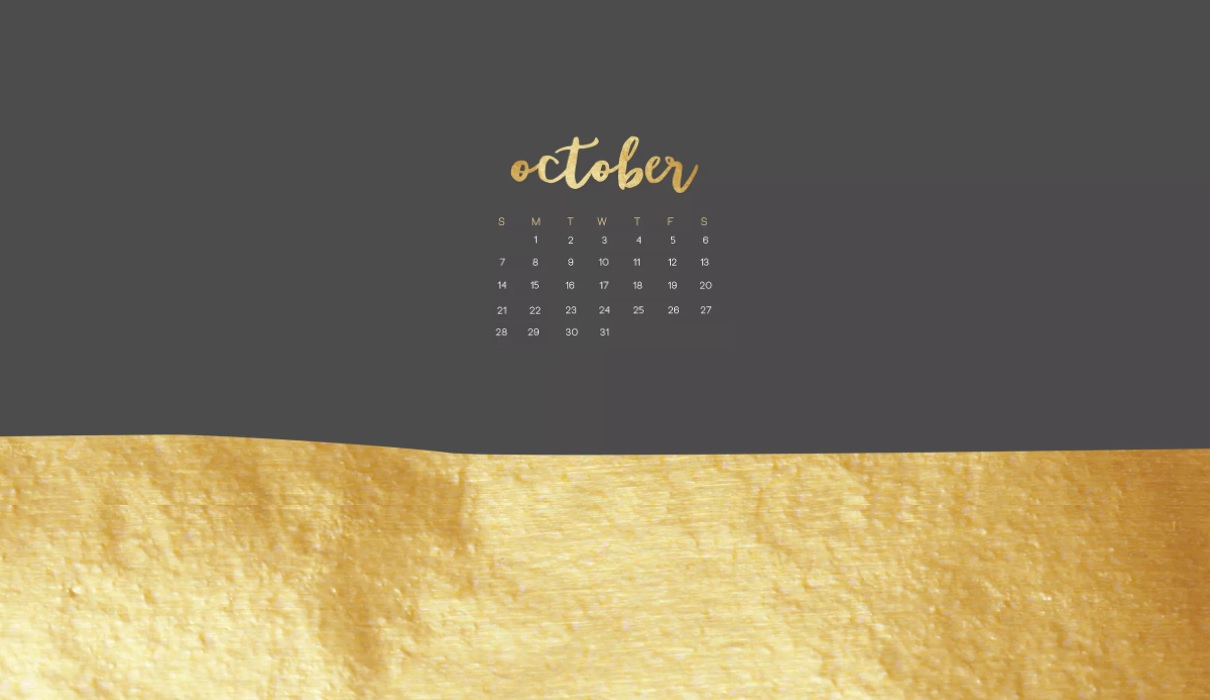 October 2018 Calendar Wallpapers For Background