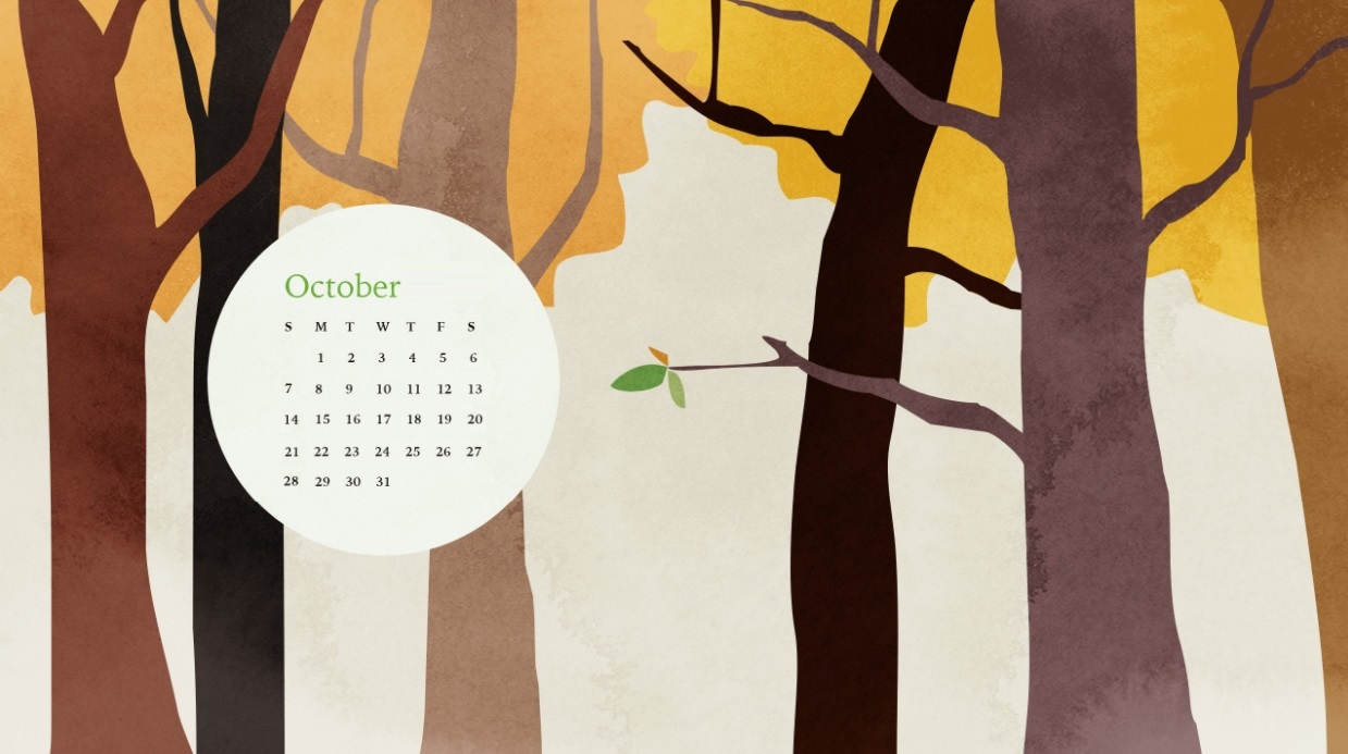 October 2018 Calendar Wallpapers For Smartphones