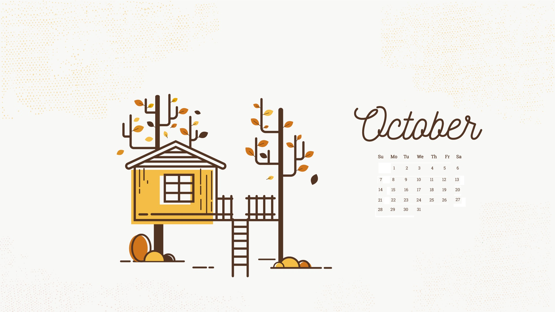 October 2018 Calendar Wallpapers