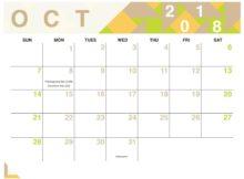 October 2018 Desk Calendar For Office