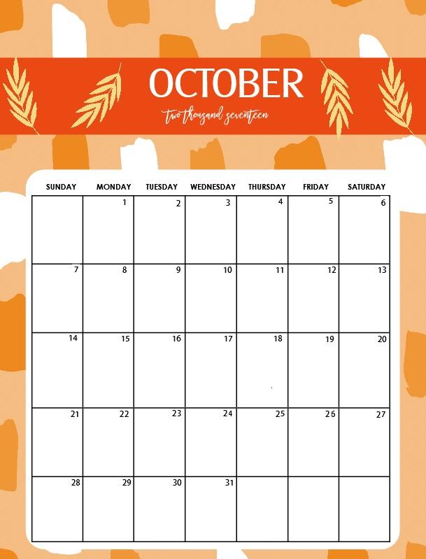 October 2018 Desk Calendar Planner
