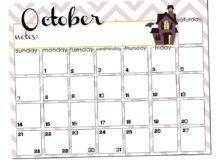 October 2018 Desk Calendar Template