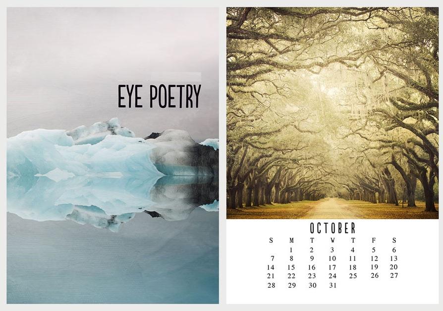 October 2018 Desk Calendar