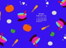 October 2018 Desktop Calendar Download