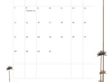 October 2018 Excel Calendar Portrait