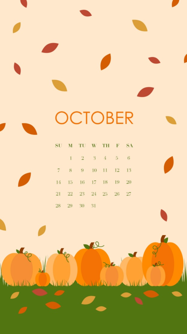 October 2018 Halloween Calendar For iPhone