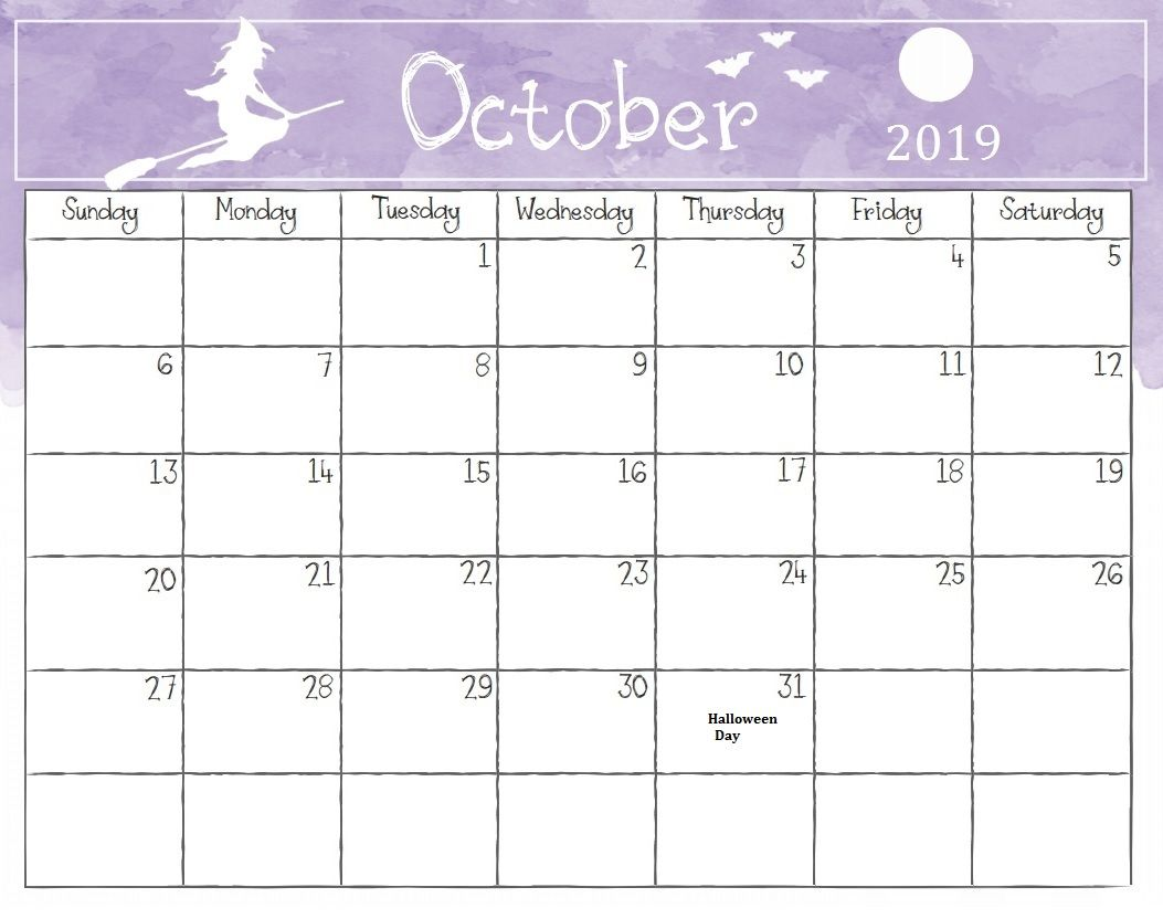 October 2018 Holidays Calendar South Africa