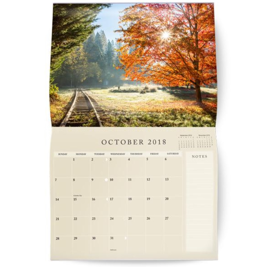 October 2018 Wall Calendar Templates