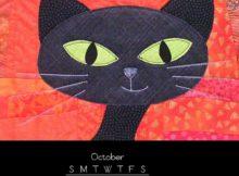 October 2018 iPhone Calendar For Screensaver