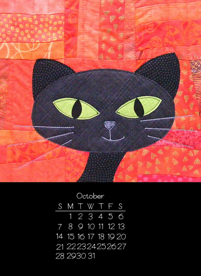 October 2018 iPhone Calendar For Screensaver