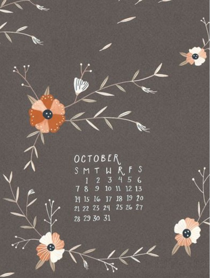 October 2018 iPhone Calendar